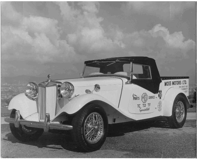 Have you ever seen a 1954 mg tf b sport truck kenzmyth for Moss motors used cars