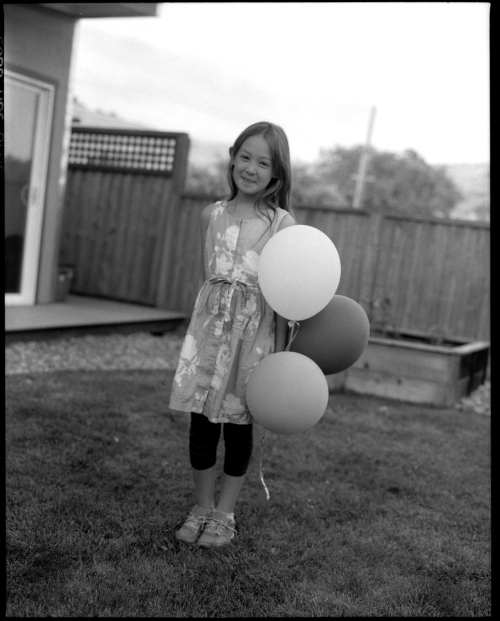 Kiki with Balloons 6-14-14
